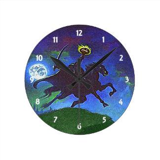 Headless Horseman in the Blue Light Wall Clock