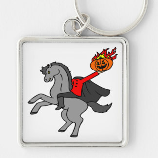 Headless Horseman Silver-Colored Square Key Ring