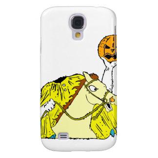headless horseman pumpkin head yellow galaxy s4 case