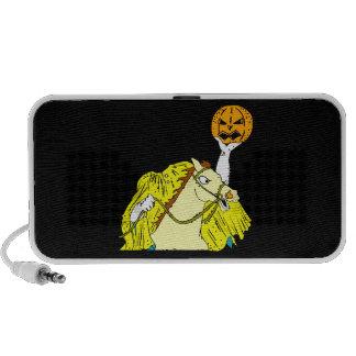 headless horseman pumpkin head yellow mp3 speaker