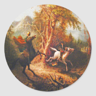 Headless Horseman Pursuing Ichabod Crane Stickers
