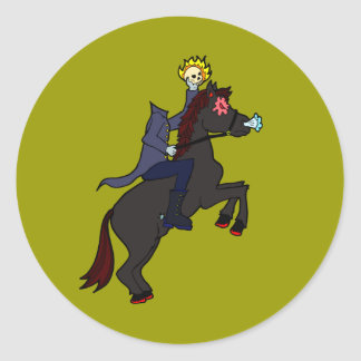 Headless Horseman Round Stickers