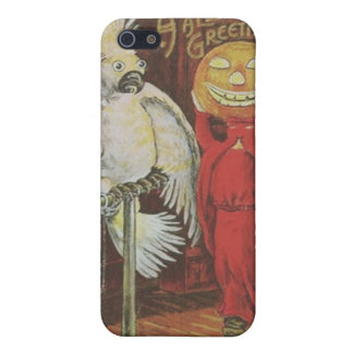 Headless Man Jack O' Lantern Cockatiel Pumpkin Case For iPhone 5/5S