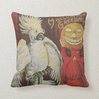 Headless Man Jack O' Lantern Cockatiel Pumpkin Cushion