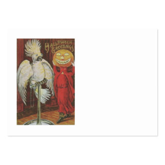 Headless Man Jack O' Lantern Cockatiel Pumpkin Pack Of Chubby Business Cards