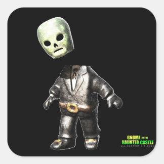 Headless Man Square Sticker