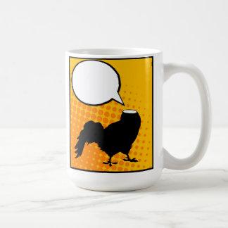 Headless rooster basic white mug