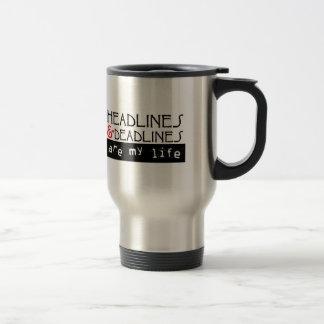 Headlines & Deadlines Stainless Steel Travel Mug