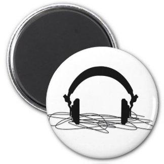 headphone 6 cm round magnet