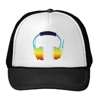 headphone mesh hat