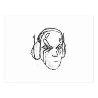 Headphone Head Postcard