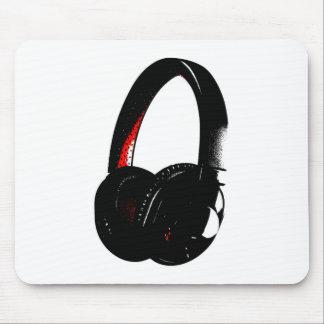 Headphone Pop Art Head Phone Mouse Pad