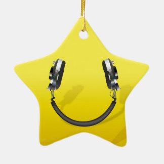 Headphone Smile Christmas Ornament