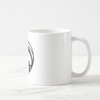 headphones basic white mug