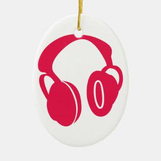 Headphones Christmas Ornament