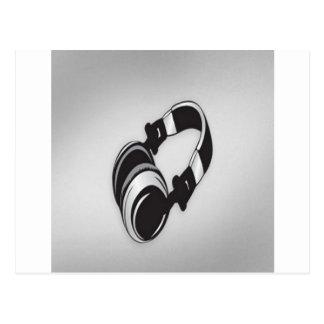 Headphones design postcard