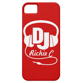 Headphones DJ named red and white iphone 5 case