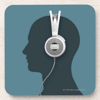 Headphones Drink Coaster