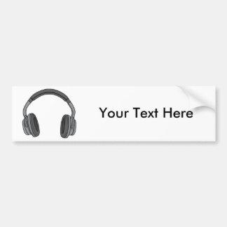 Headphones - Earphones - Headsets Audio 3 Bumper Sticker