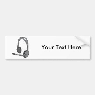 Headphones - Earphones - Headsets Audio Bumper Sticker