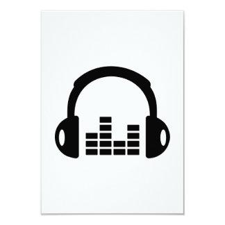 Headphones equalizer 3.5x5 paper invitation card