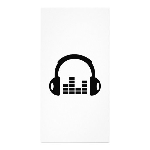 Headphones equalizer picture card