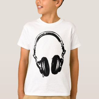Headphones Graffiti Stencil Style T Shirt
