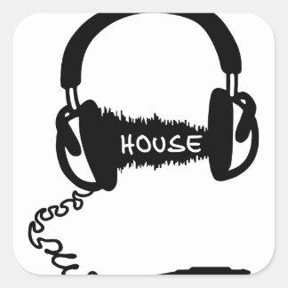 Headphones Headphones Audio Wave Motif: House Musi Sticker
