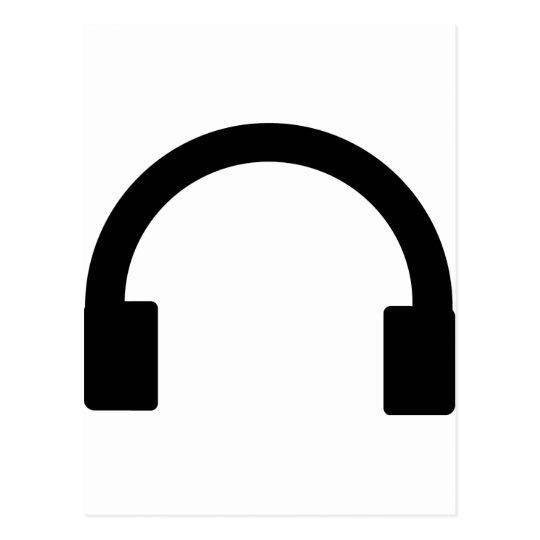 headphones icon postcard