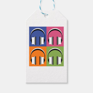 headphones in Bright Colours Gift Tags