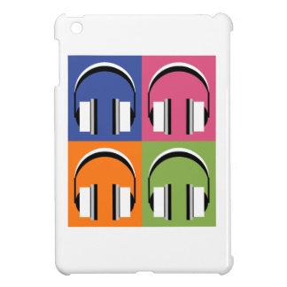 headphones in Bright Colours iPad Mini Cover