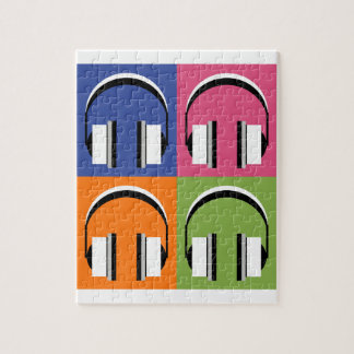 headphones in Bright Colours Jigsaw Puzzle