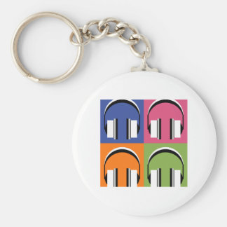 headphones in Bright Colours Key Ring