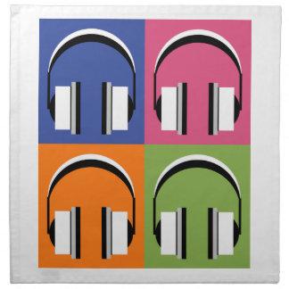headphones in Bright Colours Napkin