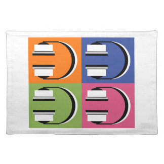 headphones in Bright Colours Placemat