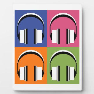 headphones in Bright Colours Plaque