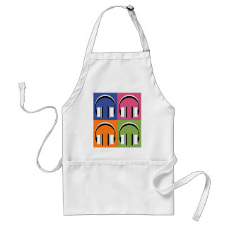 headphones in Bright Colours Standard Apron