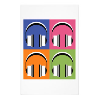 headphones in Bright Colours Stationery