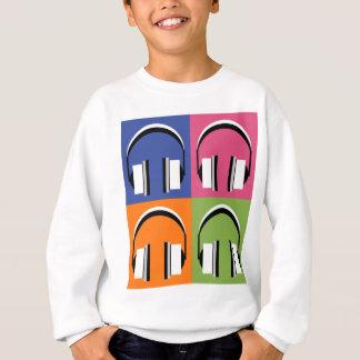 headphones in Bright Colours Sweatshirt