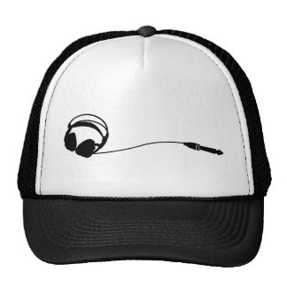 Headphones Jack cap Mesh Hats