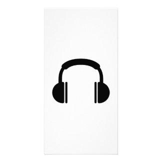 Headphones music DJ Customized Photo Card
