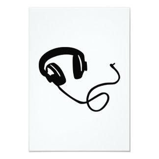 Headphones music 3.5x5 paper invitation card