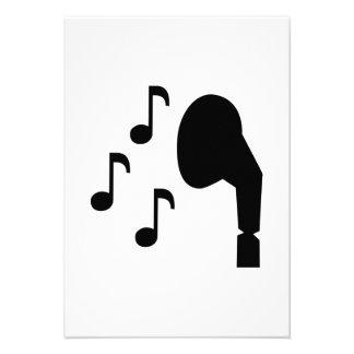 Headphones notes music custom invitations