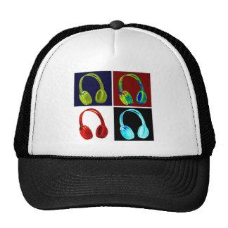 Headphones Pop Art Cap