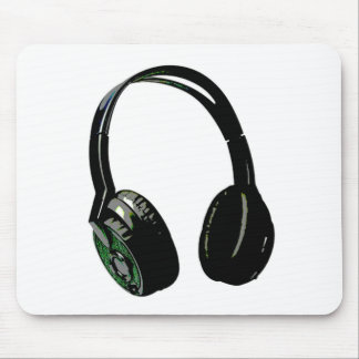 Headphones Pop Art Mouse Pad