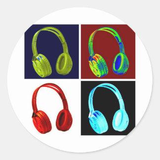Headphones Pop Art Stickers