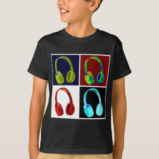 Headphones Pop Art T-Shirt