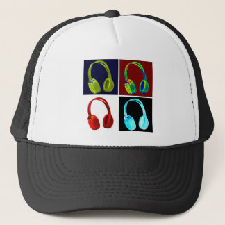 Headphones Pop Art Trucker Hat