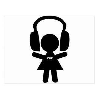 Headphones Pop Music Postcards