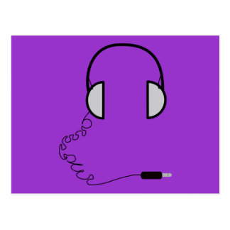 Headphones Postcard